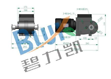 碧力凯铝合金减速电机WJNA40 照片